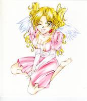 Sweet Angel watercolor by Lirin