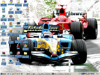 Alonso and Schumacher by Lirin