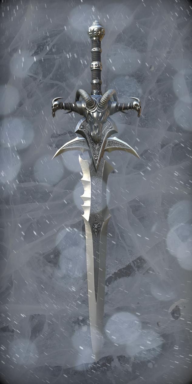 Frost Mourne in its glory by netgoblin154