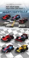 Lowpoly racing cars by netgoblin154
