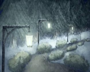 Snowy Night by Tuzz-Arts