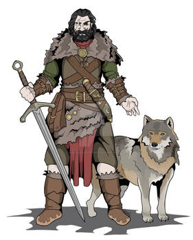 Warrior and Wolf