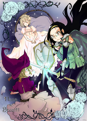 The Princess, the Witch and the Knight girl by caly-graphie