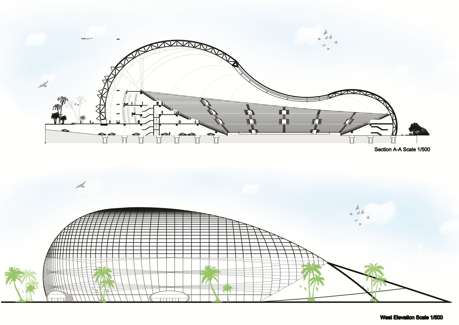 Stadium P Section Elevation By Minas Tirith Hakan On