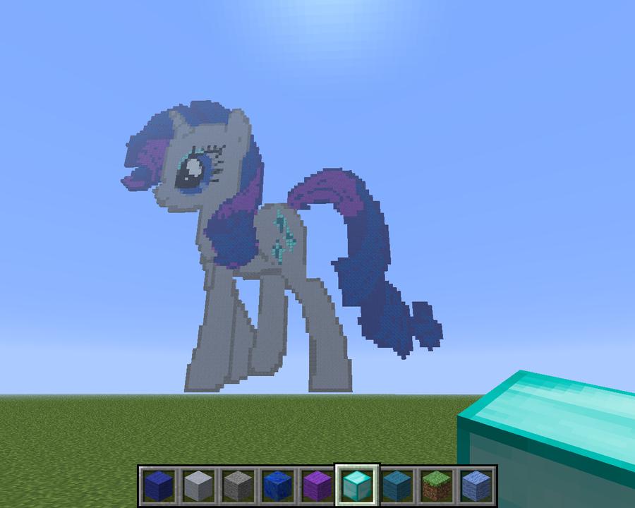 Rarity - Minecraft Pixel Art by Vondulator