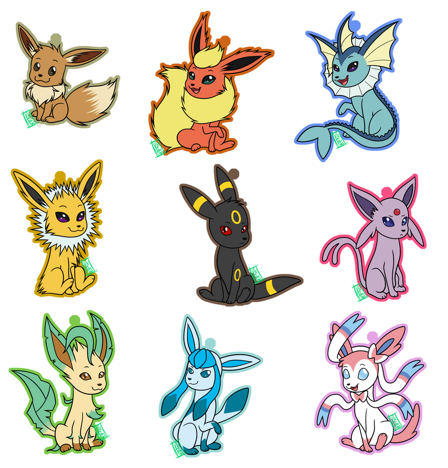 Eeveelution Keychains By Victobious On Deviantart