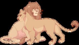 Commission - Nuru's and Leena's cubs by nyaruh