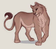 Commission - Lioness Custom by nyaruh