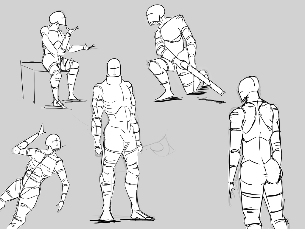 Pose Practice Sheet by Whibbleton