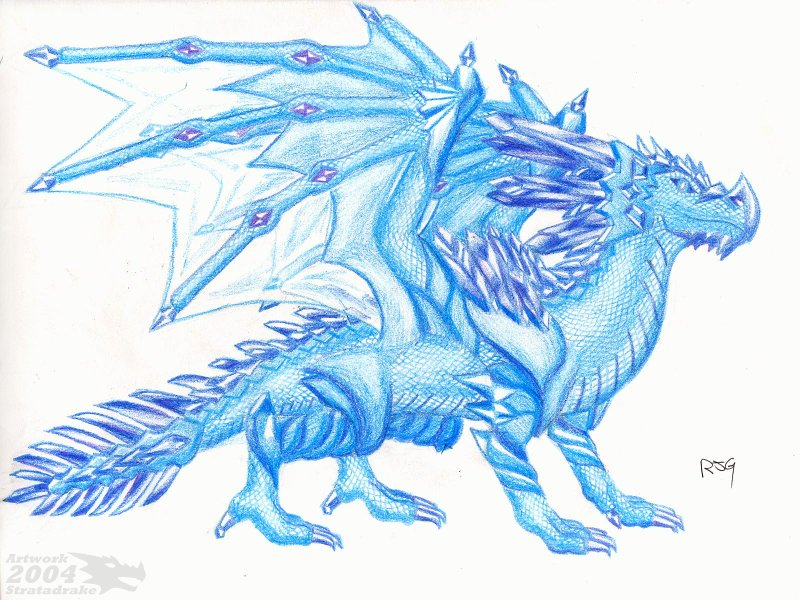 Pictures of Cool Ice Dragons Drawings - #rock-cafe