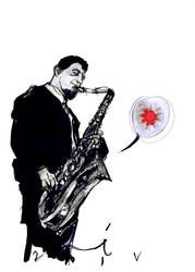 sonny rollins by zeruch