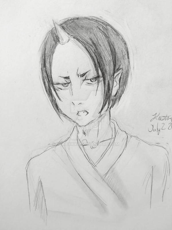 Hoozuki sketch by XtheXKXX