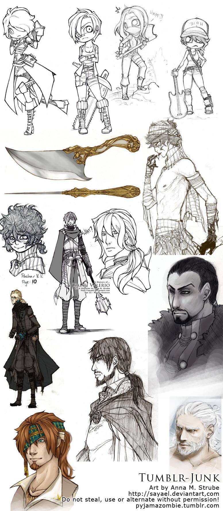 Random - Tumblr sketch dump by Sayael