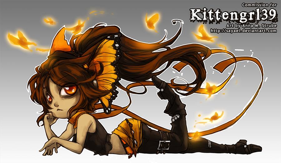 Commission - Chibi Kittengrl39 by Sayael