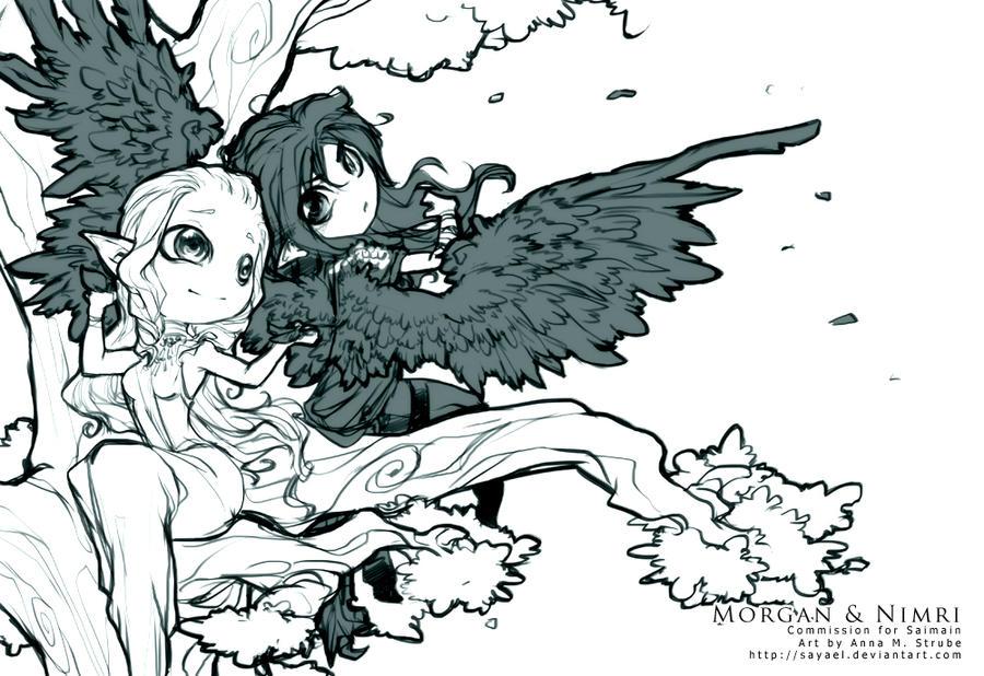 Commission - Morgan and Nimri by Sayael