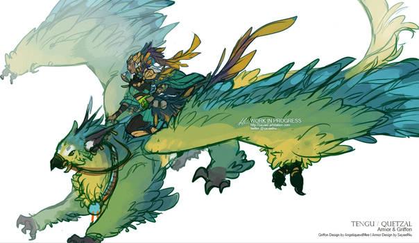 GuildWars2 - Tengu Gryphon Rider