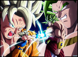 Goku et Broly by Erushido