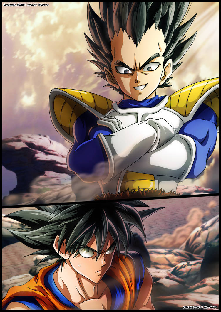 Vegeta and Goku by Erushido