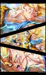 Goku Vs Majin Vegeta by Erushido