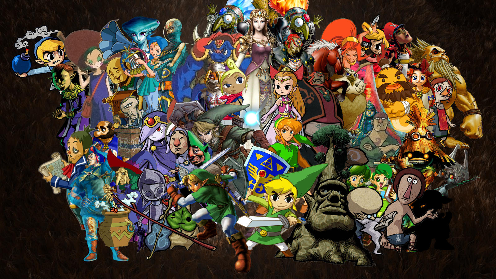 Zelda Collage Wallpaper  Widescreen  by LockstinAll Zelda Characters