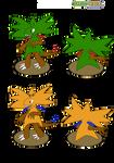 Pokemon dex 3. Treerex starter by theshinyquagga