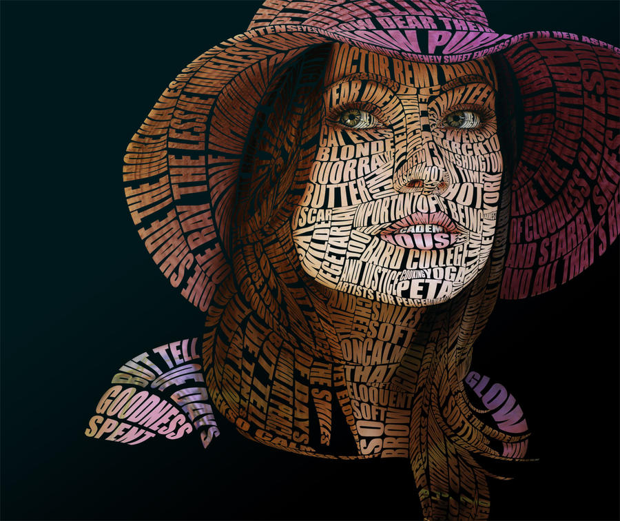 Olivia Wilde Typographic Portrait by Automaticize