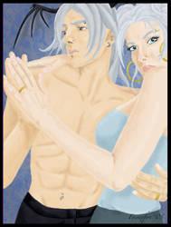 Miko and Leon by Foenixfyre
