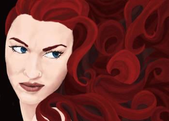 Hair of Radiant Flame . . . by Foenixfyre