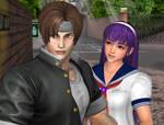 Kyo with Athena