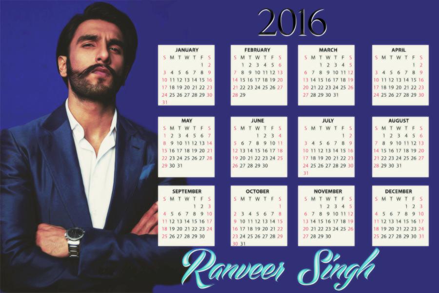 Ranveer Singh Calendar by DidemNurDesign