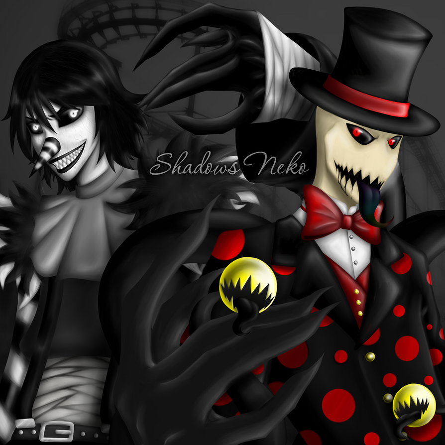Laughing Jack and Splendorman by ShadowsNeko