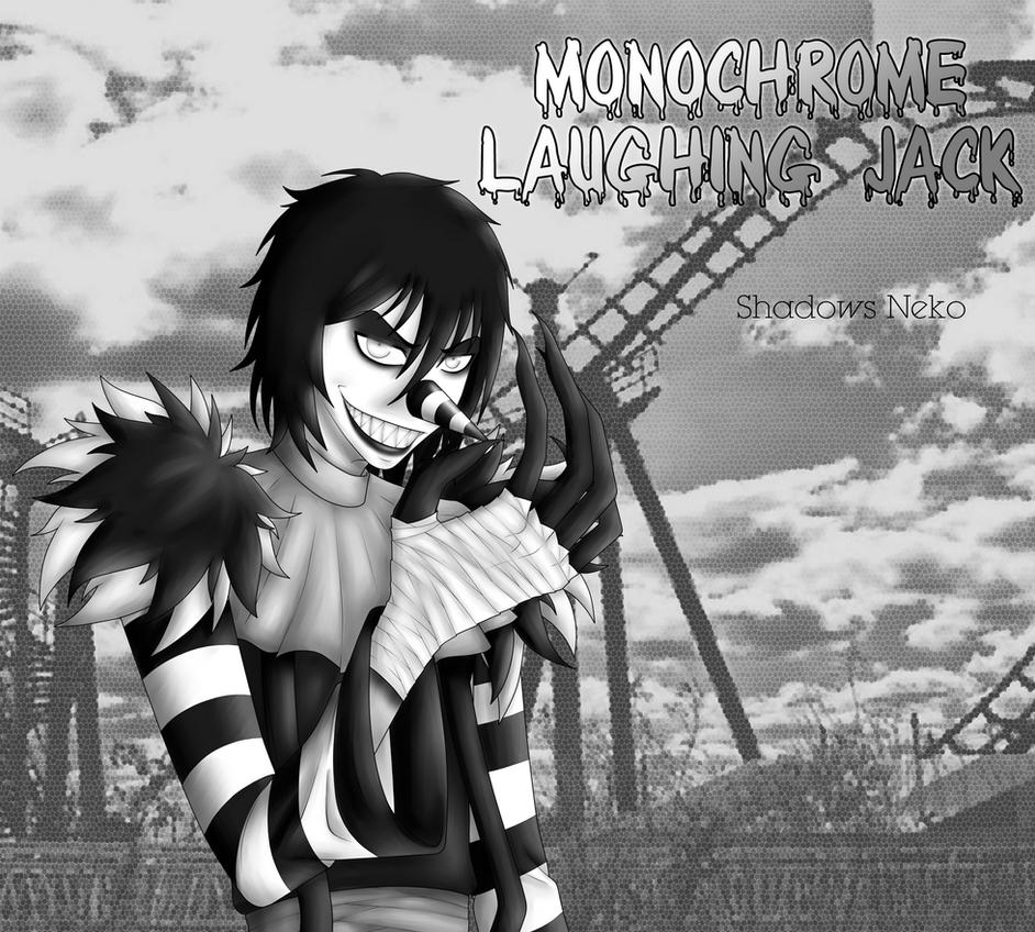 Monochrome Laughing Jack by ShadowsNeko