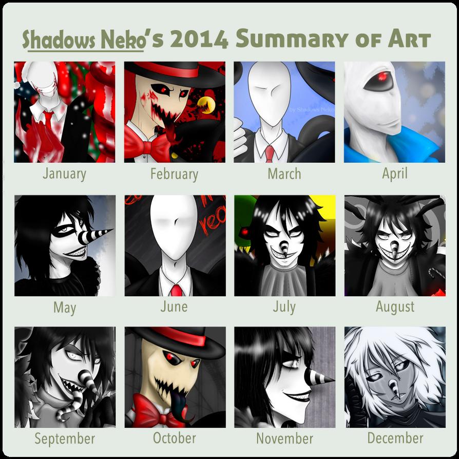 Summary of Art 2014 by ShadowsNeko