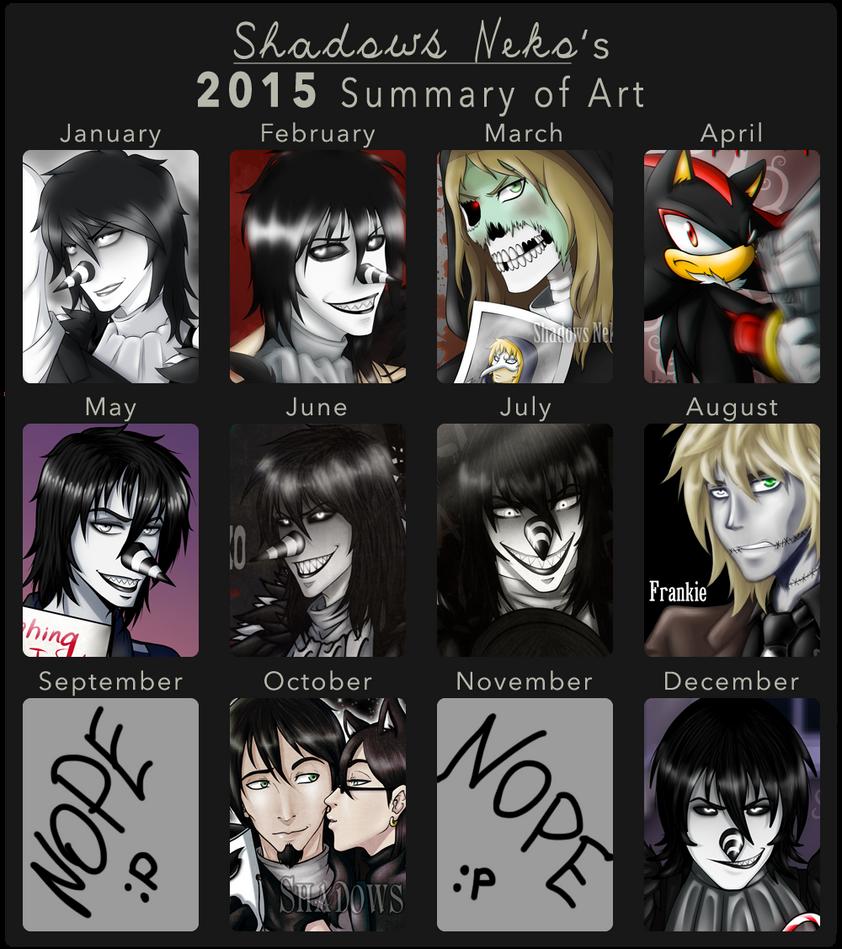 Summary of Art 2015 by ShadowsNeko