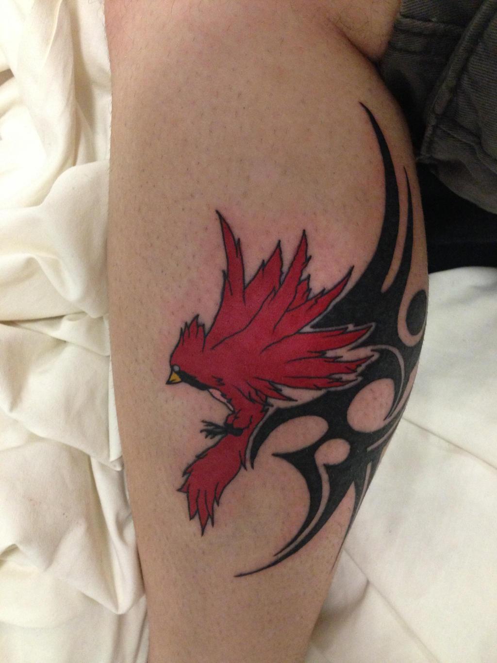 Cardinal Tattoo- on my leg by CR4ZY-CHR1S on DeviantArt
