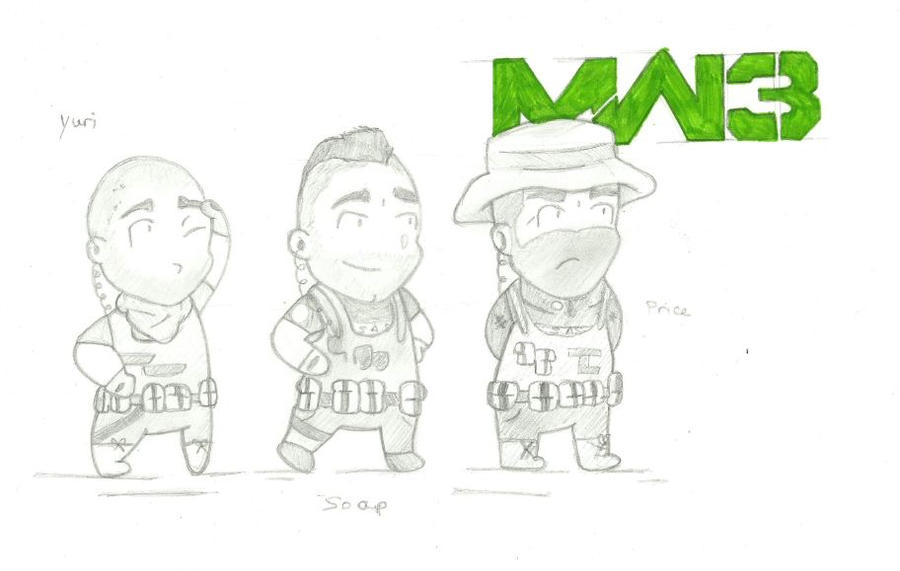 How to draw mw3 soap