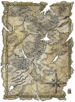 Antique map by Hattam Reyes, Scrivener of the ...