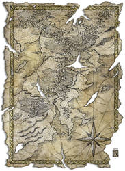 Antique map by Hattam Reyes, Scrivener of the ... by Thomas-Rey