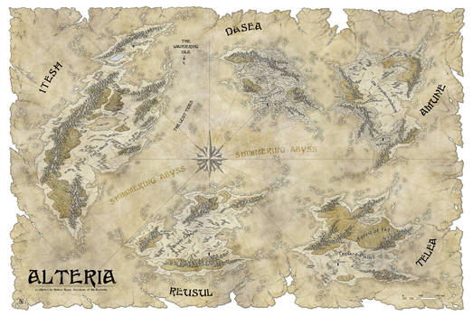 The continents of Alteria