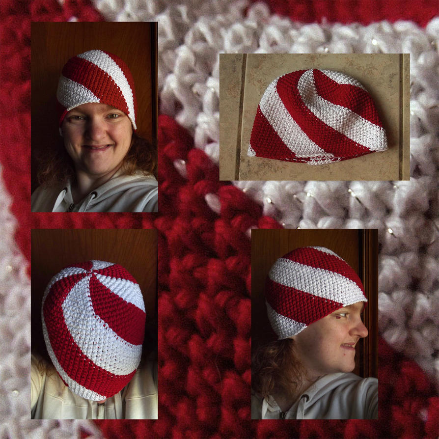 Peppermint Candy Hat Arranngment by silivrensf