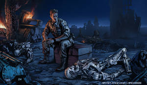 Terminator 2 lull after the battle in FUTURE