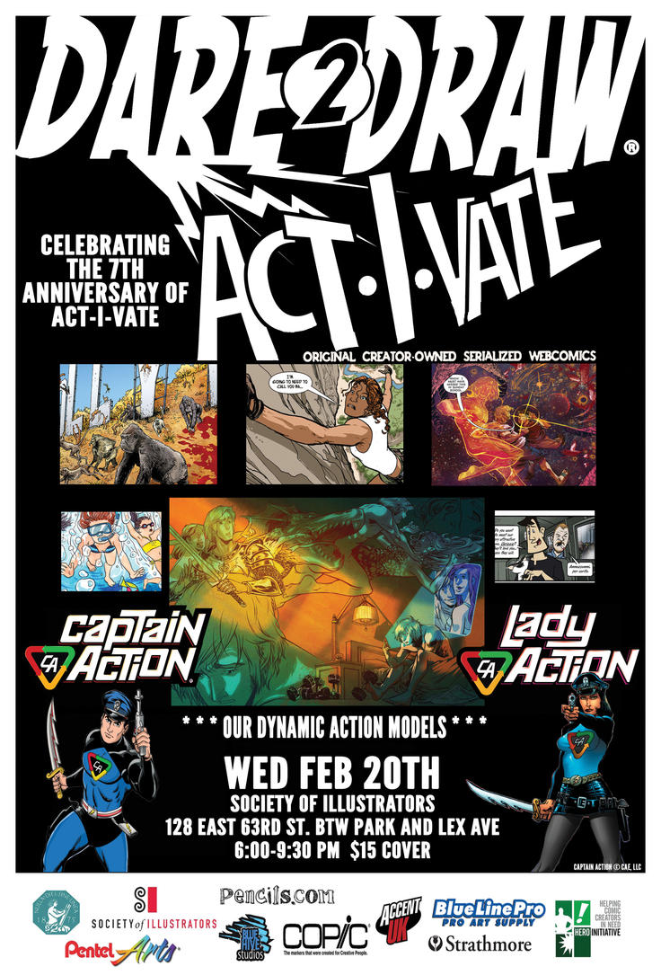 Dare2Draw Feb 20th with Act-I-Vate by Dare2Draw