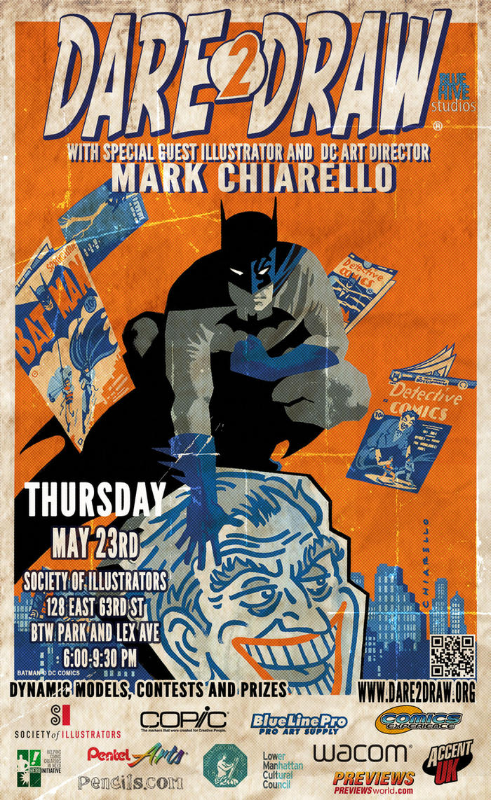 Dare2Draw: May 23rd with Mark Chiarello by Dare2Draw