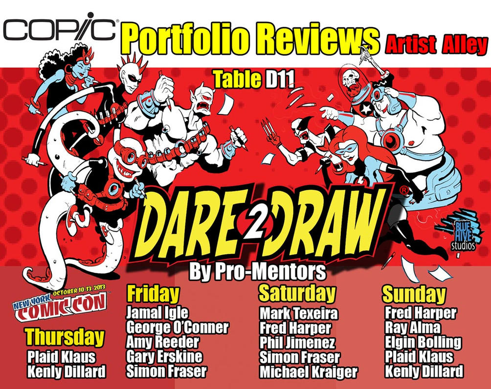 Dare2Draw at New York Comic: Portfolio Reviews D11 by Dare2Draw