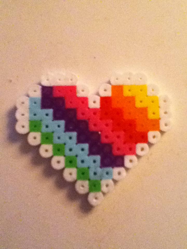 Key Chain Heart Valentines |Perler Bead Heart