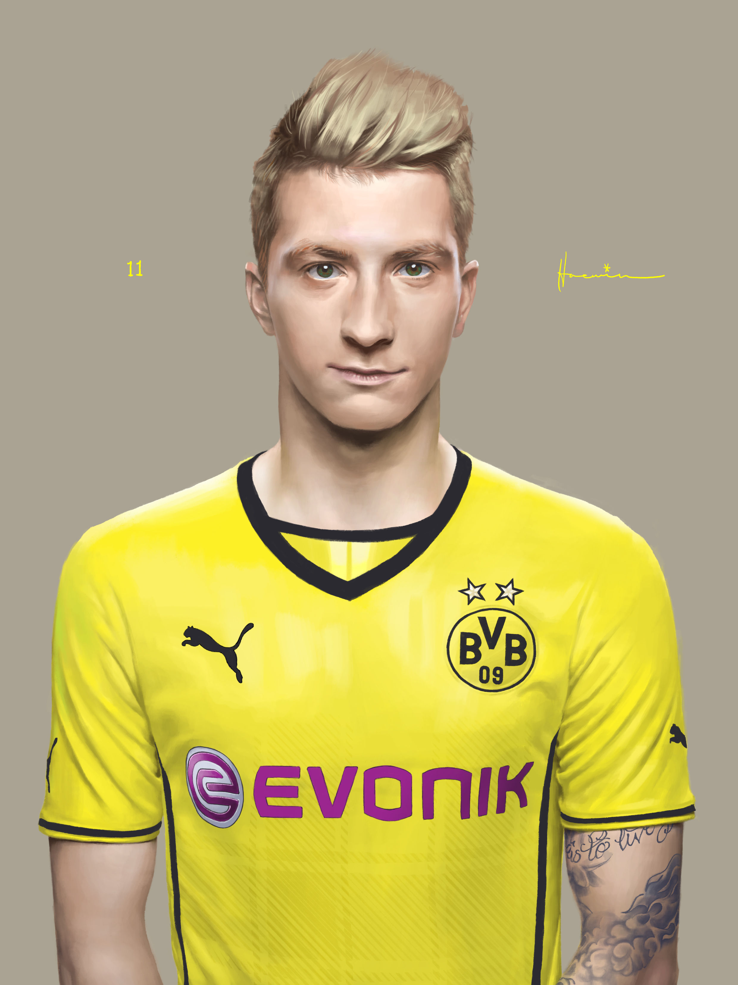 Marco Reus of BVB by MoulkandHaemin on DeviantArt