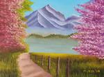 Springtime Mountain Landscape