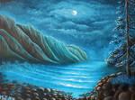 Moonlit Coastline