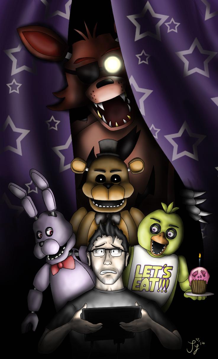 Five Nights At Freddy S Markiplier By Invadersaph On Deviantart