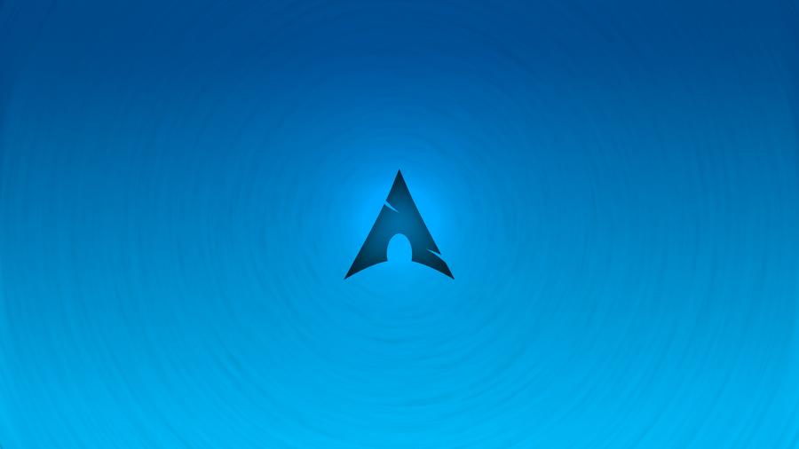 Arch Linux Blue Wallpaper Tornado Style By Kryuko